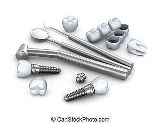 Teeth, implants, and instruments - Teeth, implants, and...