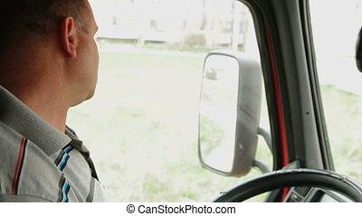 camión, conductor