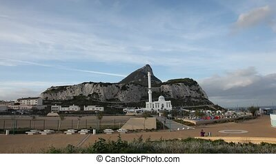 The Rock of Gibraltar as seen from the Europa Point
