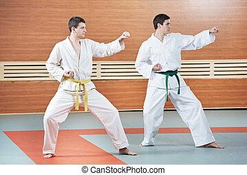 två, taekwondo, träningen