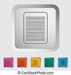 Document single icon.