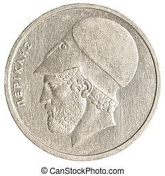 Grego,  20, moeda, antigas, Dracmas