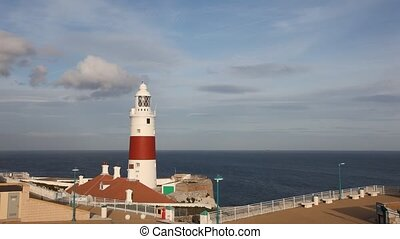 Trinity Lighthouse at Europa Point in Gibraltar