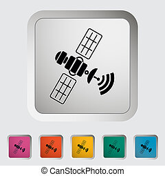 Satellite Single icon Vector illustration