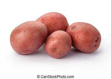 Red Potatoes isolated on a white background.