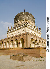 Hayath Bakshi Begum Tomb - View of the imposing tomb of...