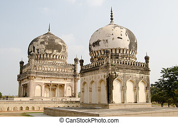 Courtesans' tombs, Hyderabad - Twin tombs of Premamati and...