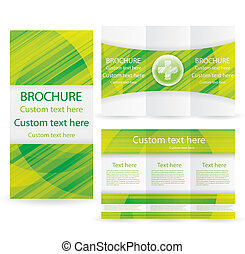 Vector Brochure Layout Design Template green medical