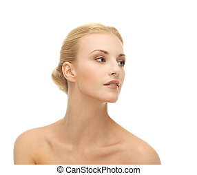 beautiful woman with blonde hair - face of beautiful woman...