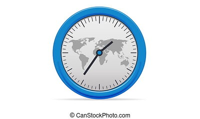 World Clock - Ticking world clock.