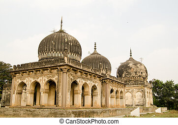 Qutub Shahi Tombs, Hyderabad - Some of the historic Qutub...