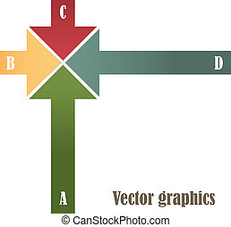 Modern Design template. Multi-colored shooters on a white...