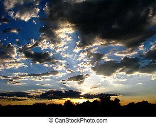 Break in the Storm - Tucson Mounain Storm