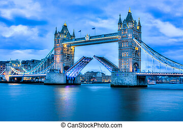 Rare image of Tower Bridge fully open - Rare image of Tower...