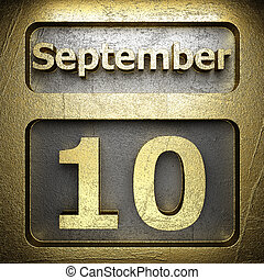 september 10 golden sign on silver