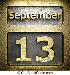 september 13 golden sign on silver