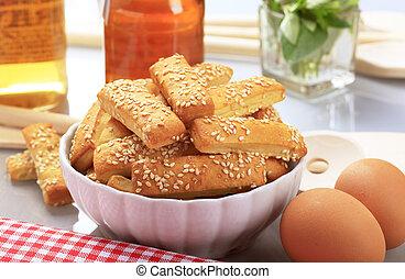 Sesame stick snacks