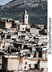 Fez general view as seen from the Marinid Tombs at Morocco