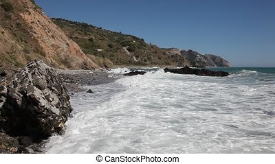 Mediterranean coast near Nerja, Andalusia, Spain