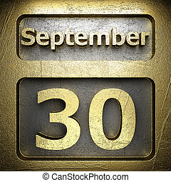 september 30 golden sign on silver