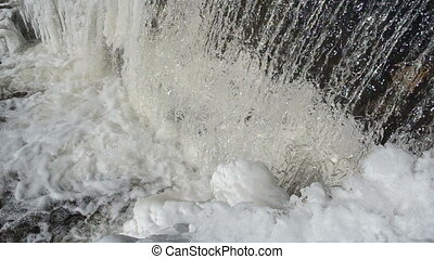 waterfall shine ice winter