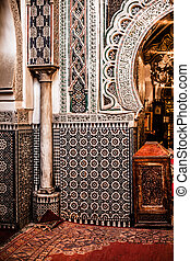 Ancient Mosque inside Madinat in Fes, Morocco