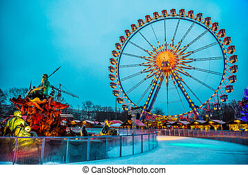 Colorful Ferris Wheel in Berlin, Germany