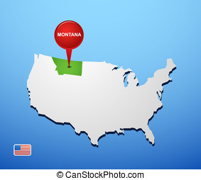 Montana on USA map