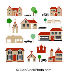 Vector Collection of Various Buildings