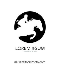 Horse symbol vector. Abstact logo template. Corporate icon.