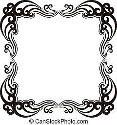 ornamental frame - silhouette of ornamental frame