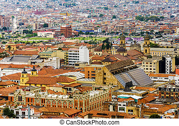 La Candelaria Historic Neighborhood in Bogota - Cathedral...