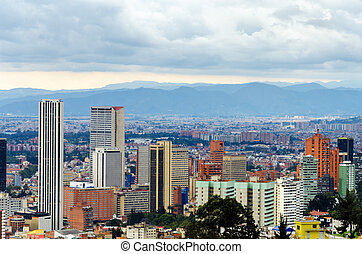 Bogota, Colombia Skyline - View of the skyline of Bogota,...