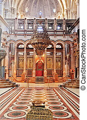 Church of the Holy Sepulcher in Jerusalem. Huge beautifully...