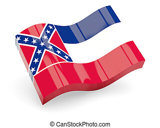 Wavy icon of mississippi - Wavy icon of flag of mississippi