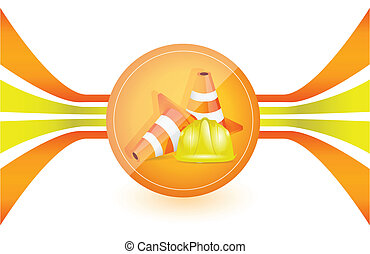 under construction illustration design graphic over a white...