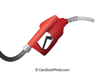 gas pump handle illustration design over a white background