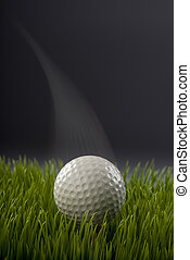 Golf Ball. - Golf ball with motion and speed.
