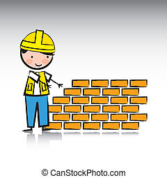 architect over gray background vector illustration
