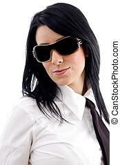 businesswoman wearing eye wear - young businesswoman wearing...