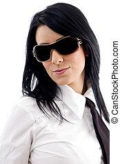 businesswoman wearing eye wear - young businesswoman wearing...
