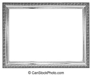 black and white frame isolated on white background