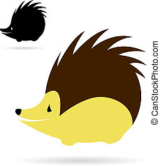 Vector image of an porcupine on white background