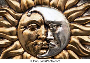 Sun and moon - Gold sun and silver moon in the same symbol