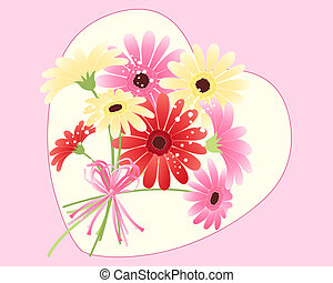 gerbera bouquet - an illustration of a bouquet of gerbera...