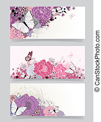 background for the design of flowers Vector illustration