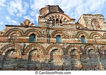 medieval church in Bulgaria - Old church in Nessebar -...