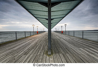 Boscombe Pier - The end of Boscombe pier in Bournemouth