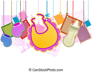 Baby Items with Clipping Path