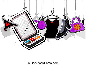 Girl Stuff with Clipping Path